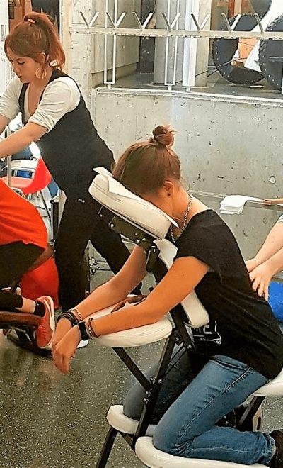 massage professionnel en événement
